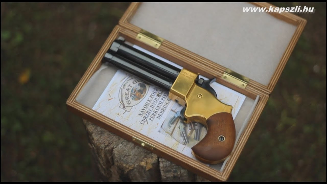 shooting a double barrel great gun percussion derringer doovi