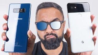 Google Pixel 2 XL vs Samsung Galaxy Note 8 Full Comparison includin...