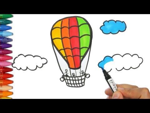 Gambar Balon Udara Dan Pewarnaan Cara Menggambar Dan Mewarnai Tv
