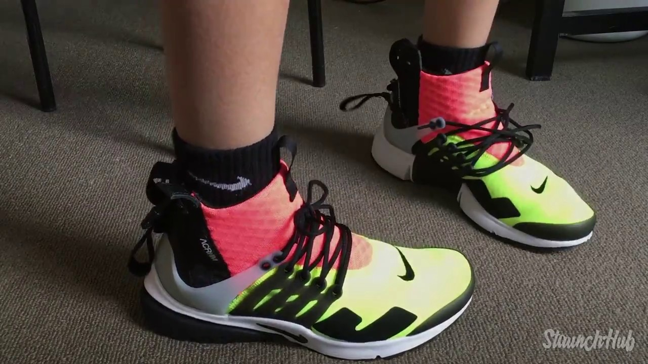 9585fee00382 ... clearance nike x acronym air presto mid volt unboxing on feet 2537e  58369