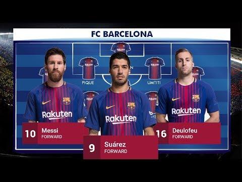 Barcelona Squad 2017 2018