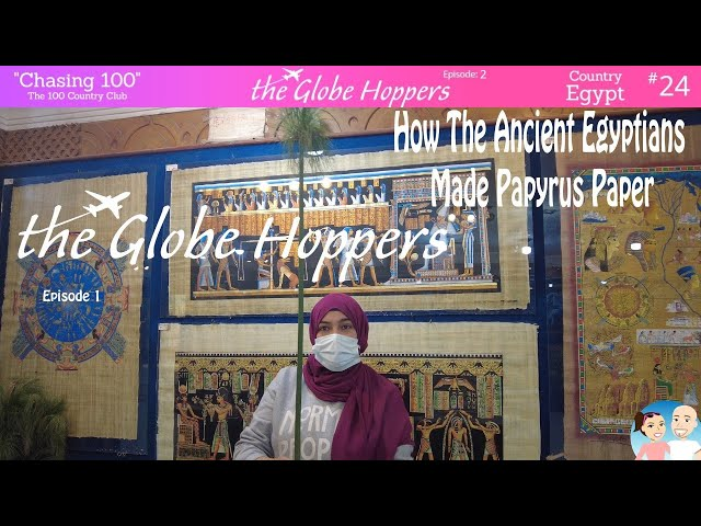 How the ancient Egyptians made papyrus paper