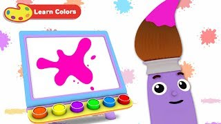 Learn Colors with Petey Paintbrush   Early Learning Videos for Baby Brain Development & Education