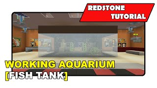 "Working Aquarium [fish Tank] ""redstone Tutorial"" (minecraft Xbox Tu19/playstation Cu7/ps Vita)"