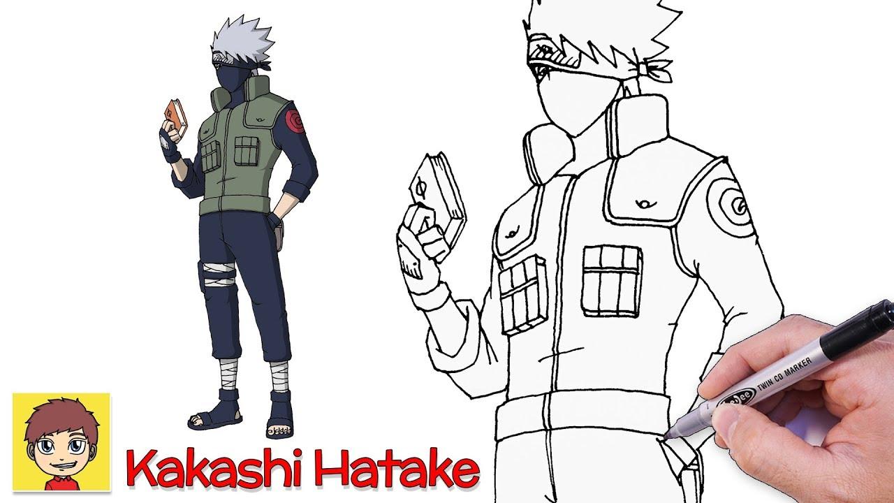 Cách vẽ Kakashi siêu ngầu – Vẽ Anime – Tôi Yêu Vẽ