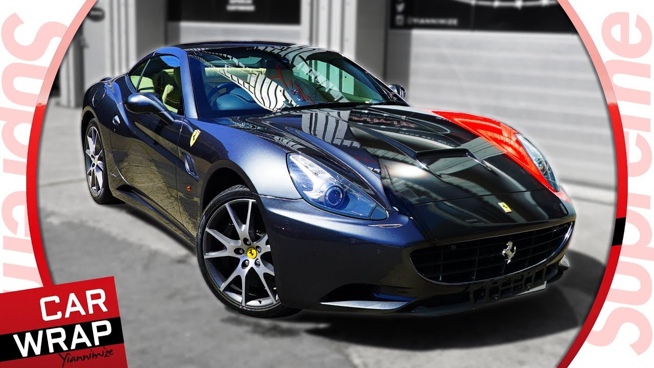 Supreme Ferrari California Wrapped Gloss Red And Black