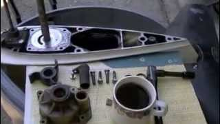 60 HP Johnson Evinrude VRO Lower Unit Removal and Water Pump Service