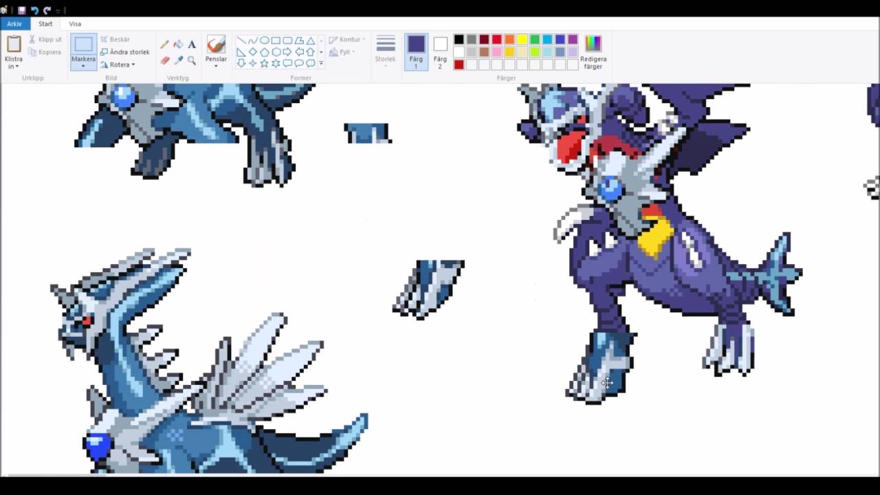 Dialga And Palkia Fusion Pokemon Sprite ...