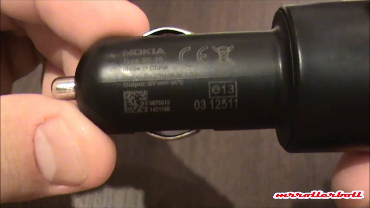 Universal Dual Usb Car Charger Nokia Dc 20 Unboxing