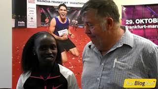 Vivian Cheruiyot interview at Frankfurt Marathon 2017