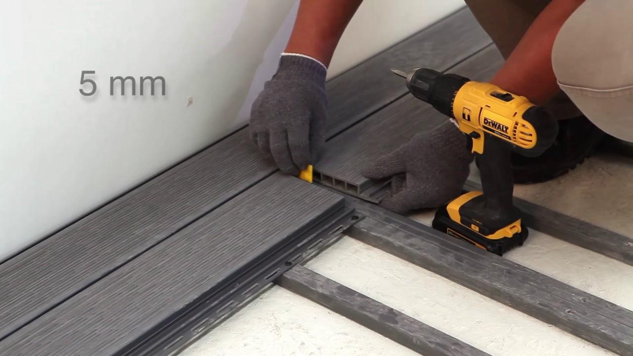 Tutorial Instalación de un deck de PVC Vinyl Deck® - YouTube