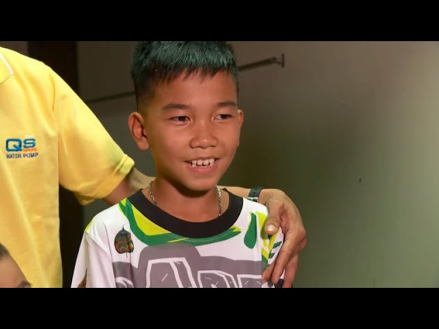"""""""It was dark and quite scary"""" Thai cave survivors speak on first full day with families"""