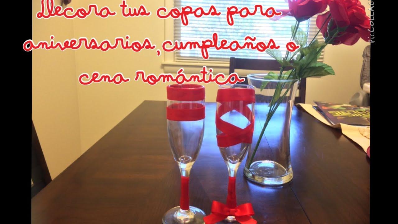 Decora tus copas muy facil para aniversarios o cualquier for Decoracion 40 aniversario de bodas