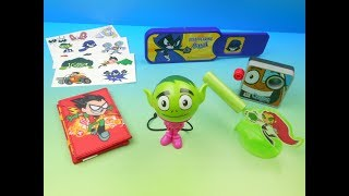 - 2017 TEEN TITANS GO TRICKS SET OF 6 SONIC DRIVE IN KIDS MEAL TOYS VIDEO REVIEW