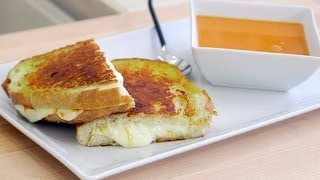 Grilled Triple Cheese Sandwich Recipe! | Grilled Cheese with Cheese on the Inside & Outside??
