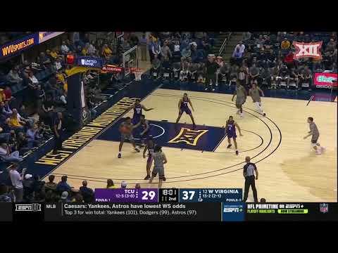 TCU Vs. West Virginia Men's Basketball Highlights