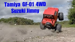 tamiya 2s lipo brushless gf 01 jimny wild willy drives the most mad crazy bonkers rc stunt truck