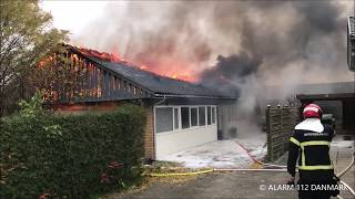 24.11.2019 - Villa brændt ned i Smørum