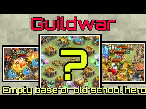 Guildwar | Empty Base ...? | Old School Hero | Easy Guildwar | Castle Clash