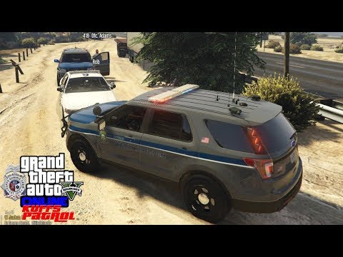 GTA 5 KUFFS COPS #97 | State Troopers Pull Over Fake Sheriff | Multiple Shots Fired In Sandy Shores