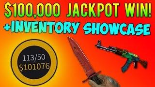 CS GO - $100,000 Jackpot Win!? + Winners Inventory Showcase!