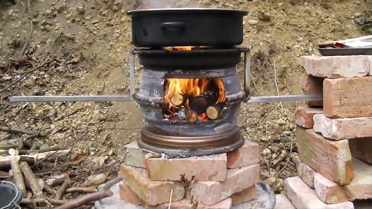 Outdoorcooking Mit Einem Autofelgen Ofen Youtube