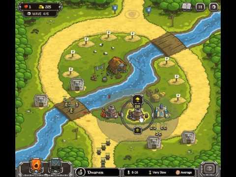 Kingdom Rush - Walkthrough - Stage Four - Twin Rivers - Heroic Challenge -  