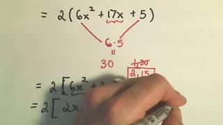 العوملة Trinomials: عامل تجميع - ex 1