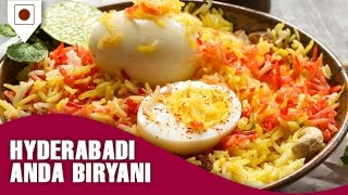 How to make Hyderabadi Egg(Anda) Biryani - Easy Cook with Food Junction