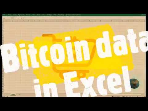How To Use Excel To Fetch Bitcoin Trading Info?
