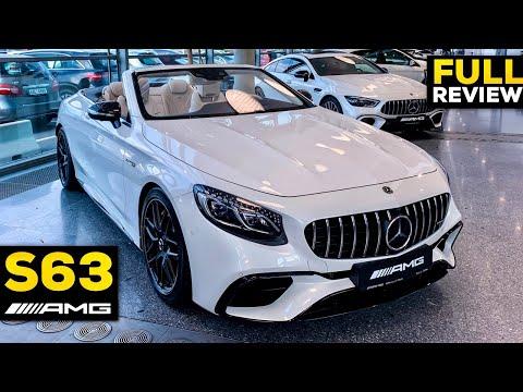 2019 MERCEDES AMG S63 Cabriolet V8 Full Review BRUTAL Interior Exterior Infotainment Diamond White