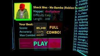 ROBLOX: Blox Saber Mo Bamba (Roblox Parody) 100% Précision