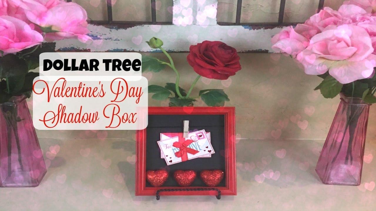 EASY DOLLAR TREE DIY Valentines Day Shadow Box YouTube
