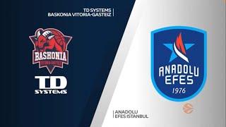 EuroLeague 33. Hafta: TD Systems Baskonia - Anadolu Efes
