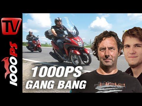 1000PS Test - Yamaha NMax vs. Tricity - Zwei- oder Dreirad?