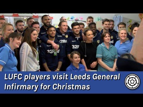 LUFC players visit LGI hospital in Leeds