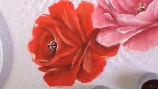"""Série """"Como pintar rosas"""" – Rosa vermelha – Aula 3 com Cristina Ribeiro"""