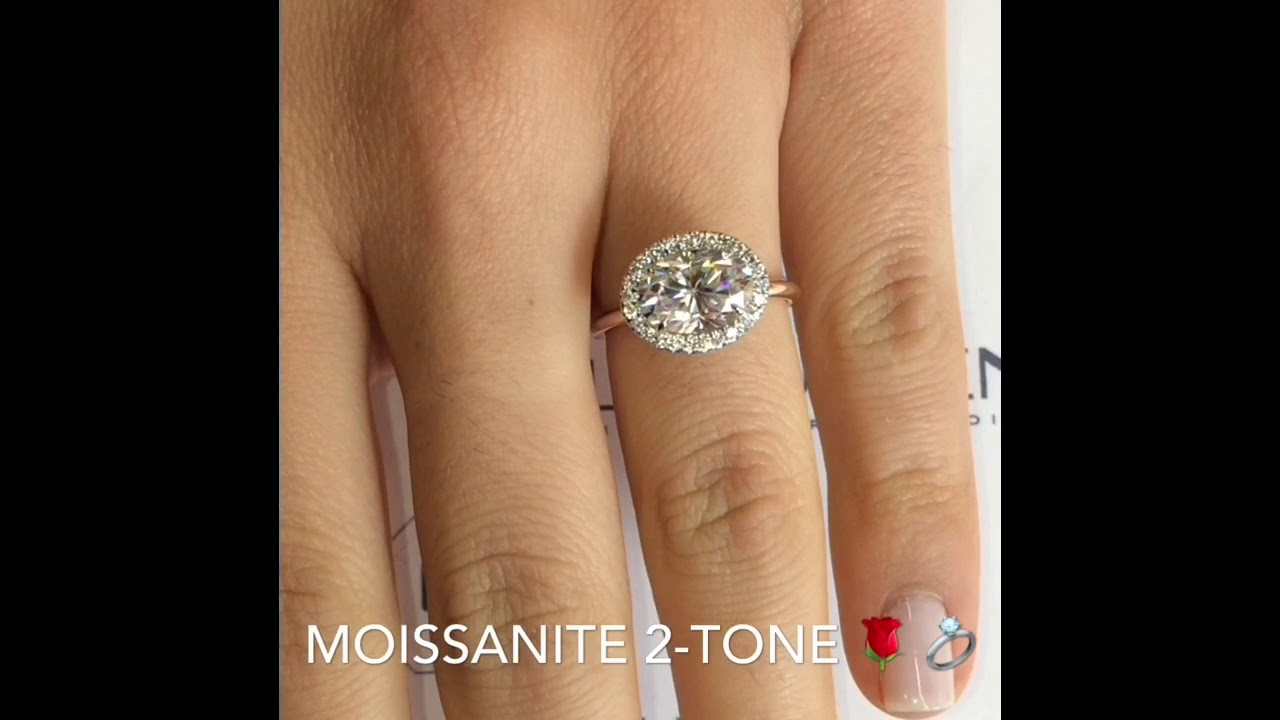 watch diamond moissanite cut cushion ring youtube