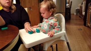 Toddler is MAD That She Can't Lick Play-Doh ®