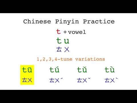 Chinese Pinyin Practice - Tu