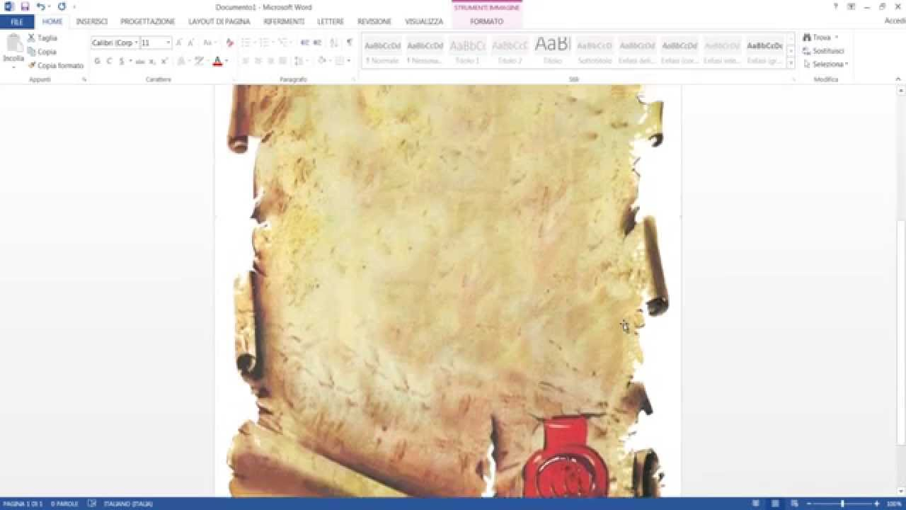 abbastanza CREARE UN MENU CON WORD - YouTube KI73