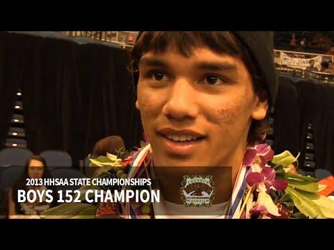 SL : Blake Cooper  Boys 152 HHSAA Wrestling State Champion 2013