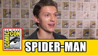 SPIDER-MAN HOMECOMING Comic Con Interviews - Tom Holland, Zendaya, Jon Watts