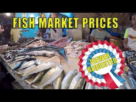 Fish Market Prices. Cabangcalan Market, Cebu City, Philippines.