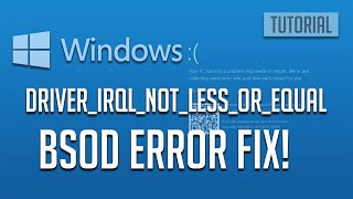 how To Fix DRIVER_IRQL_NOT_LESS_OR_EQUAL ( NDIS.Sys)  Blue Screen  Windows 10/8