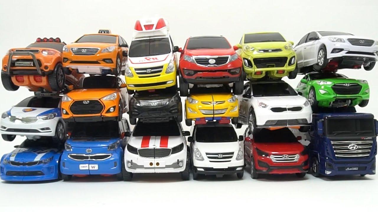 Real Car VS Toy Car comparison Hellocarbot Tobot transformer car 헬로카봇 또봇 변신로봇  [Toystar TV]