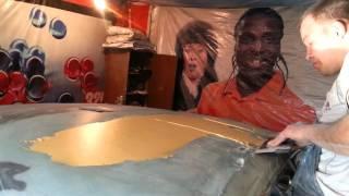 видео Ремонт крыши автомобиля после аварии