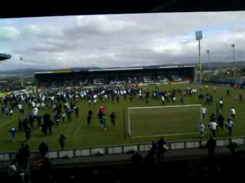 Inverness Caley Thistle pitch invasion