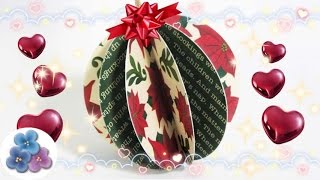 Paper Christmas Balls - DIY Papercraft - Christmas Ornaments 2015  Mathie