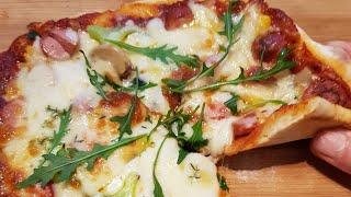 best pizza made from scratch...الذ وأسهل بيتزا طرية مثل المطاعم واطيب...مع سر نجاح العجينة..